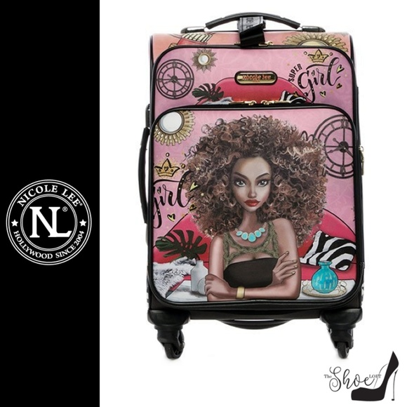 "Nicole Lee Handbags - Super Roxana Cleo Carry On Luggage 18"""